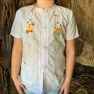 Vintage Embroidered Chinese Pajama Top